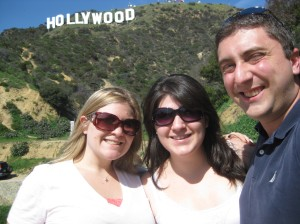Me, Jennie, and Jeff at the Hollywood sign...so cool!